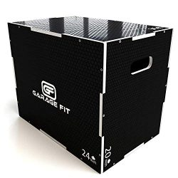 Garage Fit Wood Plyo Box – 30/24/20, 24/20/16, 24/20/18, 16/14/12-3 in 1 Plyo Box, Essenti ...