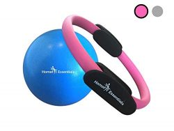 HomeFit Essentials Premium Pilates Ring – Fitness Resistance Magic Circle & 9 Inch Exercise  ...