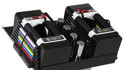 PowerBlock Personal Trainer Set, 5 to 50 Pounds per Dumbbell