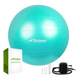 Trideer Exercise Ball (Multiple Color), Yoga Ball, Birthing Ball with Quick Pump, Anti-Burst &am ...