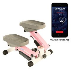 Exerpeutic EXERWORK 850 Bluetooth Smart Cloud Fitness Extended Capacity Mini Stepper with Adjust ...