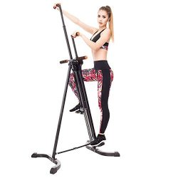 FEIERDUN Vertical Climber Exercise Machine,Full Total Body Workout Folding Cardio Climbing Machi ...