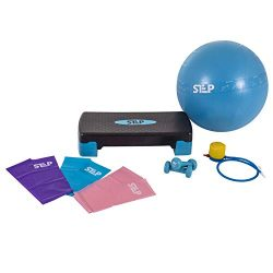 The Step Bundle – Home Gym Workout System for Core, Strength, Stability, and Resistance Tr ...