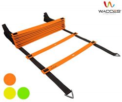 Wacces Adjustable Agility Ladder for Soccer, Speed, Football, Fitness with Carry Bag ( 12 Rungs  ...