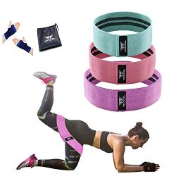 WOOSL Resistance Bands Booty Bands Loop Exercise Bands Workout Bands Hip Bands Booty Band with F ...