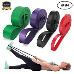 LEEKEY Resistance Band Set, Pull Up Assist Bands – Stretch Resistance Band – Mobilit ...