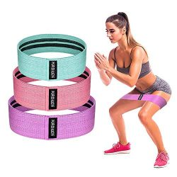 Hurdilen Resistance Bands Loop Exercise Bands Booty Bands – Workout Bands Hip Bands Wide Resista ...