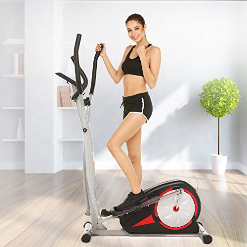 Fast Portable Elliptical Machine Fitness Workout Cardio Training Machine, Magnetic Control Mute  ...