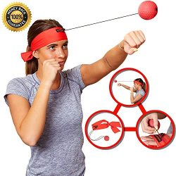 Boxing Reflex Ball Headband – Workout Gym Equipment for Speed and Reaction Training – ...