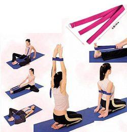 HuaYang D-Ring Yoga Pilates Belt Strap Band Equipment Waist Leg Exercise Fitness Figure Props(Black)
