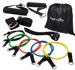 TheFitLife Exercise and Workout Resistance Bands – Training Tube Set Stackable up to 110 l ...