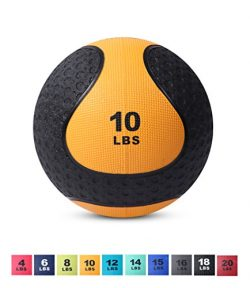 Day 1 Fitness Medicine Exercise Ball with Dual Texture for Superior Grip 10 Pounds – Fitne ...
