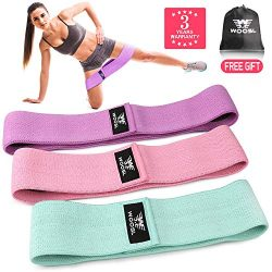 WOOSL Resistance Bands Loop Exercise Bands Legs Butt, Resistance Band Booty Bands Workout Bands  ...