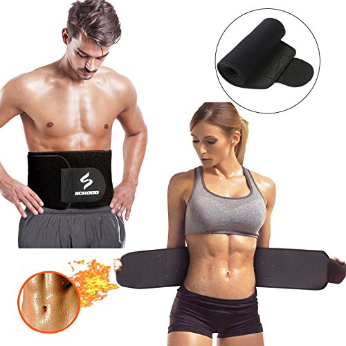 Waist Trimmer, Adjustable Ab Sauna Belt Trainer to Shed The Excess Water, Weight and Tone of Mid ...