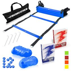 Agility Ladder and Cones by FireBreather. Great Training Equipment to Exercise Speed in Soccer,  ...