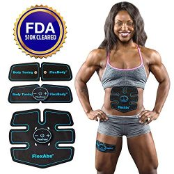 Abs Stimulator Muscle Toner – FDA Cleared | Rechargeable Wireless EMS Massager for Weight  ...