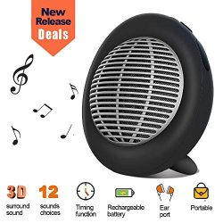 White Noise Machine, Portable Oval Sleep Sound Machine, Sound Therapy Machine with 3 Timers & ...