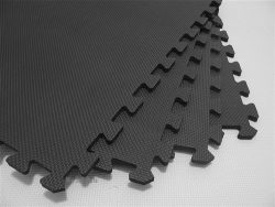 We Sell Mats 72 Square Feet (18 Tiles + Borders) Charcoal Gray 2′ x 2′ x 3/8″  ...