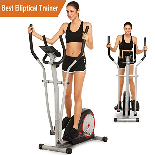 Tomasar Elliptical Exercise Machine Magnetic Smooth Quiet Driven Eliptical Trainer Machine for H ...