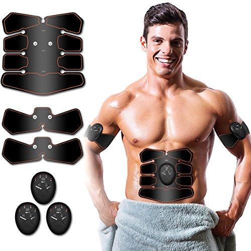 Abs Stimulator, Muscle Toner – Abs Stimulating Belt- Abdominal Toner- Training Device for  ...