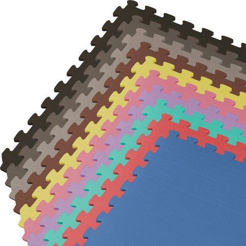 We Sell Mats 100 Square Feet Interlocking Foam Tiles, White