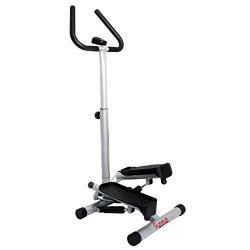 Sunny Health & Fitness NO. 059 Twist Stepper Step Machine w/Handle Bar and LCD Monitor (Cert ...