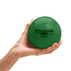 TheraBand Soft Weight, 4.5″ Diameter Hand Held Ball Shaped Isotonic Weighted Ball for Isom ...