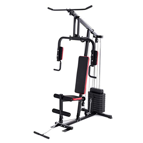 Goplus Multifunction Home Gym System Weight Training Exercise Workout Equipment Fitness Strength ...
