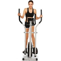 shaofu Magnetic Control Mute Elliptical Trainer with LCD Monitor & Pulse Rate Grips | Home O ...
