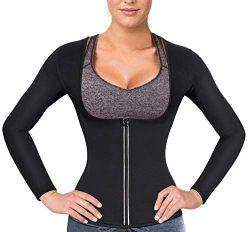 Women Sauna Suit Waist Trainer Neoprene Shirt for Sport Workout Weight Loss Corset Hot Body Shap ...