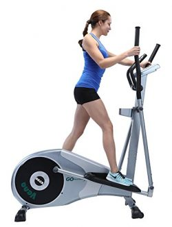 "GOELLIPTICAL V-200 Stand Stride 17"" Elliptical Exercise Cross Trainer Machine for Cardio Fitness ..."