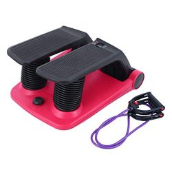 Air Stepper Climber Exercise Fitness Thigh Machine for Home Workout Gym (red+Black)