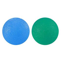 HEALIFTY Hand Exercise Squeeze Ball 2pcs Hand Grip Strengthening Stress Relief Therapy Balls Fin ...