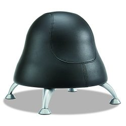 Safco Products Runtz Ball Chair 4756BV, Black Easy-to-Clean Vinyl, Anti-Burst Exercise Ball, Act ...