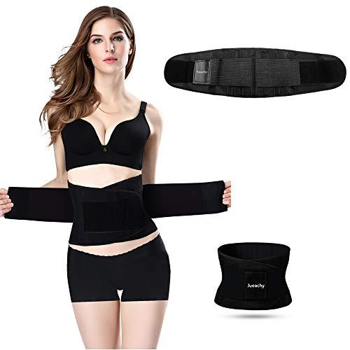 Jueachy Waist Trainer Belt for Women, Breathable Sweat Belt Waist Cincher Trimmer Body Shaper Gi ...