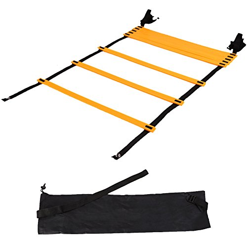 ZZ Lighting Adjustable Speed Agility Training Ladder for Soccer with Carry Bag(25 Rung 32.8 ft)