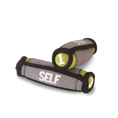 SELF Soft Hand Weights, 2-Pound, Green