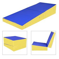 Sportmad 70″ x 30″ x 14″ Gymnastics Cheese Mat Incline Wedge Mat Folding Tumbl ...