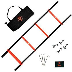 Primal Fitness Agility Ladder Training Equipment, Improve Speed and Quickness Either Outdoors or ...