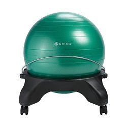 Gaiam Classic Backless Balance Ball Chair – Exercise Stability Yoga Ball Premium Ergonomic Chair ...