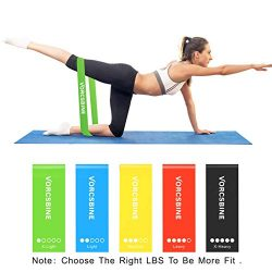 Exercise Resistance Bands, VORCSBINE Mini Workout Bands for Home Fitness, Pilates, Physical Ther ...
