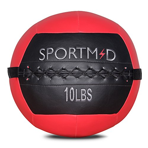 Sportmad Medicine Ball Wall Ball Soft Exercise Ball Heavy Duty Strength and Conditioning Cardio  ...
