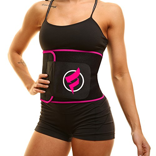 Fitru Waist Trimmer Weight Loss Ab Belt for Women & Men – Waist Trainer Stomach Wrap ( ...