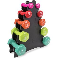Crown Sporting Goods 5 Pairs of Vinyl Exercise Dumbbells – Fitness Sculpting Hand Weights  ...