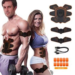 MOORAY SPORT Abs Stimulator Abdominal Trainer Ultimate Abs Stimulator Ab Stimulator Men Women Wo ...