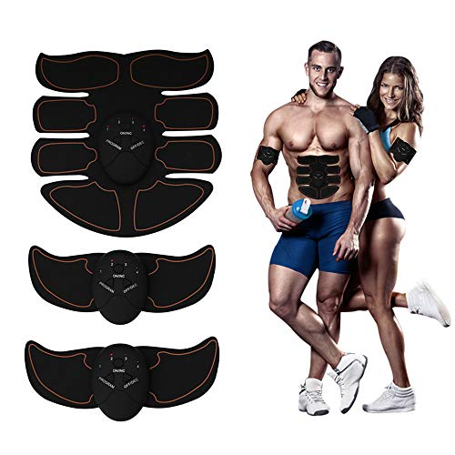 Eight Pack ABS Abdominal Trainer, Portable EMS Muscle Toner, Smart Fitness Mobile-Gym Fat Burnin ...
