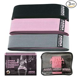 Arena Strength Booty Bands: Fabric Resistance Bands for Legs and Butt: 3 Pack Set. Perfect Worko ...