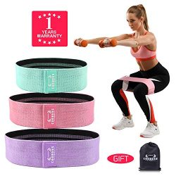 COOBONS Resistance Bands for Legs and Butt,Exercise Bands Hip Bands Booty Bands Wide Workout Ban ...