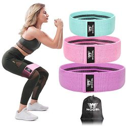 WOOSL Resistance Bands Legs Butt, Exercise Bands Resistance Band Hip Bands Wide Booty Bands Work ...