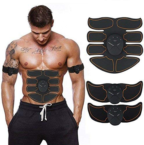 MUBEN Abdominal Muscle Toner, Abdominal Toning Belt ABS Tone Trainer Body Muscle Trainer Wireles ...